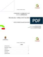 Plan Programa Español y Matemáticas Bien