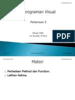 Diktat Pemrograman Visual Pertemuan 5