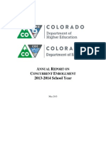 2015 Concurrent Enrollment Report