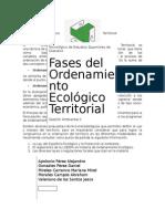 Fases Del Ordenamiento Ecológico Territorial