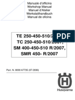 2007 Husqvarna TE510 work shop manual