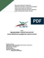 Tema 1. Obligaciones Conceptualización, Características, Elementos Constitutivos