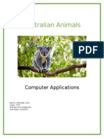 lane ashleigh australian animals work