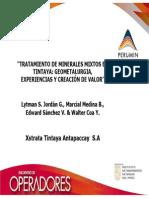 TRATAMIENTO DE MINERALES MIXTOS EN TINTAYA
