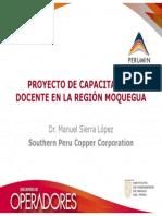 PROYECTO DE CAPACITACIÓN DOCENTE EN LA REGIÓN MOQUEGUA