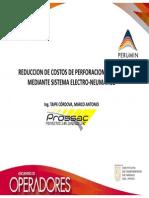 REDUCCION DE COSTOS DE PERFORACION MANUAL MEDIANTE SISTEMA ELECTRO-NEUMATICO