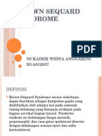 Brown Sequard Syndrome Ppt