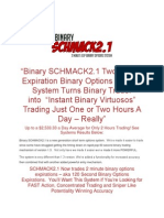 Binary SCHMACK2.1 2 Minute Expiration Binary Options System