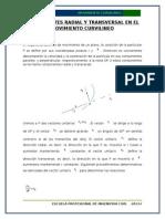 Componentes Radial y Transversal en El Movimiento Curvilineo