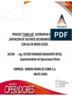 PROCESO CHAPI LIX, ALTERNATIVA PARA LA LIXIVIACION DE SULFUROS SECUNDARIOS DE COBRE CON SAL EN MEDIO ACIDO