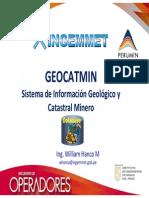 GEOCATMIN SISTEMA DE INFORMACION GEOLOGICO Y CATASTRAL MINERO