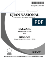 Pembahasan Bocoran Soal UN Biologi SMA 2015 by Pak-Anang.blogspot.com