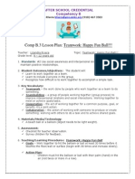 comp b 3 lesson plan - teamwork happy fun ball