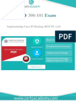 300-101 Cisco Real Exam Questions - 100% Pass