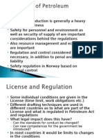 Lecture Note Regulation of Petroleum Activity