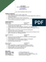 cora wright resume 2015