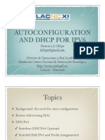 Autoconf and Dhcpv6