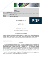 Corte Costituzionale - Sentenza n. 70/2015