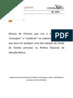 Preceptor e Residente MFCS