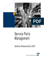 Service Parts Management - Enhancements 2007