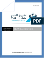 Bilan Ramadan 2013 de l'association Trik Lkhir