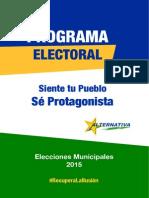 Programa Electoral 2015. Alternativa por Santomera
