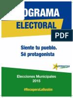 Programa Electoral Resumido de Alternativa por Santomera. 2015