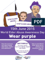 World Elder Abuse Awareness day 2015