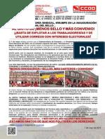 2060710-CCOO, Con La Mayoria Sindical, Irrumpe en La Inauguracion de La Feria Nacional Del Sello