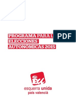 Programa autonómicas Esquerra Unida