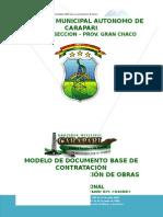 Modelo de Dbc-Anpe Const. Sistema Agua Potable Comunidad Buena Vista