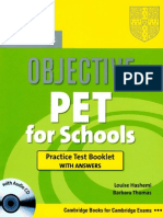Objective Pet for Schools Tests