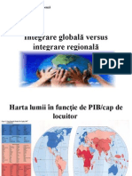 Seminar  Integrare Globala Versus Integrare Regionala