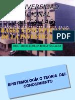 TEORÍA DEL  CONOCIMIENTO / EPISTEMOLOGÍA