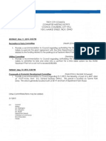 Council Committee Meetings (5/11 and 5/12/2015)