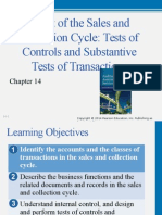 Chapter 14 audit of sales and collection cycle.......