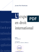 L'Expert en Droit International - Jacobo Rios Rodriguez - Editions Pedone