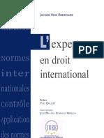 L'Expert en Droit International - Jacobo Rios Rodriguez - Editions Pedone
