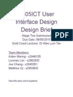design brief user interface design stage2