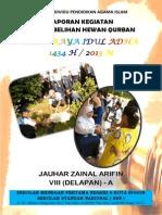 Laporan Kegiatan Penyembelihan Hewan Qurban. Hari Raya Idul Adha 1434 H/2013 M