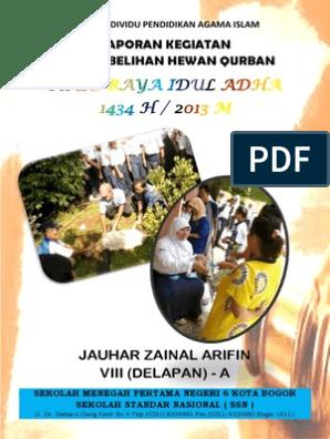 Laporan Kegiatan Penyembelihan Hewan Qurban Hari Raya Idul Adha 1434 H 2013 M