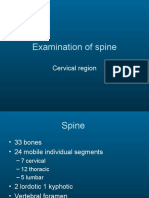 Examination of Cervical Spine