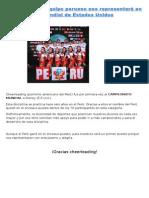 Cheerleading Represento Al Perú 07