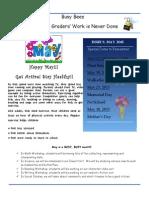1st Grade Newsletter -May 2015
