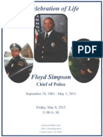 Chief Floyd Simpson Order of Events
