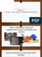 Module 1- Prepare Construction Materials