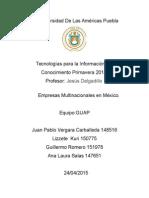 Empresas Multinacionales en Mèxico GUAP