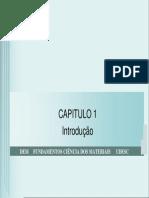 Aula 02 Capitulo 01 Callister _introdução