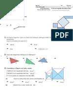 7-2 Teste B Equações e Pitágoras (1)