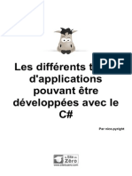 579765 Les Differents Types d Applications Pouvant Etre Developpees Avec Le c